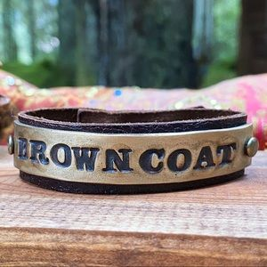Browncoat firefly leather and brass bracelet